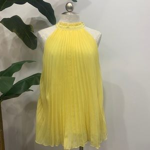 Babydoll Pleated High-neck Tank